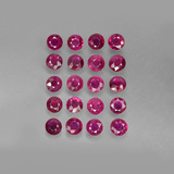 thumb image of 4ct Round Facet Pink Red Ruby (ID: 415265)