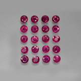 thumb image of 0.2ct Round Facet Pink Red Ruby (ID: 415269)