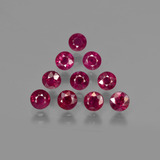 thumb image of 3.5ct Round Facet Pink Red Ruby (ID: 415273)