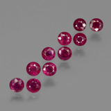 thumb image of 3.1ct Round Facet Pink Red Ruby (ID: 415551)
