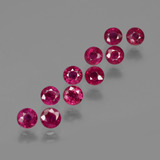 thumb image of 3.5ct Round Facet Pink Red Ruby (ID: 415552)