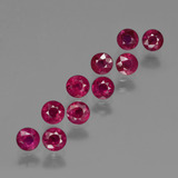 thumb image of 3.3ct Round Facet Pink Red Ruby (ID: 415553)