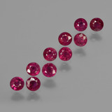 thumb image of 2.3ct Round Facet Pink Red Ruby (ID: 415554)