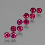 thumb image of 3.1ct Round Facet Pink Red Ruby (ID: 415555)