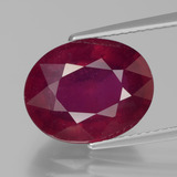 thumb image of 7.8ct Oval Facet Pink Red Ruby (ID: 440511)