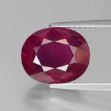 thumb image of 5ct Oval Facet Pink Red Ruby (ID: 440514)