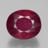 thumb image of 9.2ct Oval Facet Pink Red Ruby (ID: 440515)