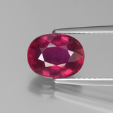 thumb image of 2.9ct Oval Facet Pink Red Ruby (ID: 440610)