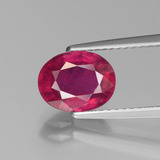 thumb image of 2.4ct Oval Facet Pink Red Ruby (ID: 440615)