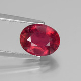thumb image of 2.7ct Oval Facet Pink Red Ruby (ID: 440739)