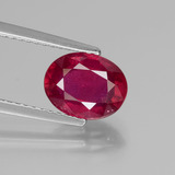 thumb image of 2.2ct Oval Facet Pink Red Ruby (ID: 440740)