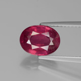 thumb image of 2.2ct Oval Facet Pink Red Ruby (ID: 440998)