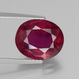 thumb image of 6.3ct Oval Facet Pink Red Ruby (ID: 441149)