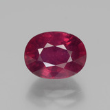 thumb image of 3.1ct Oval Facet Pink Red Ruby (ID: 447620)