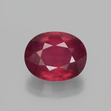thumb image of 3.8ct Oval Facet Pink Red Ruby (ID: 447621)