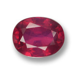 thumb image of 1.8ct Oval Facet Pink Red Ruby (ID: 462532)
