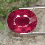 thumb image of 3.8ct Oval Facet Red Ruby (ID: 464783)