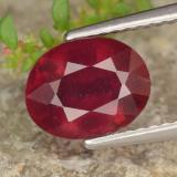 thumb image of 2.7ct Oval Facet Red Ruby (ID: 464791)