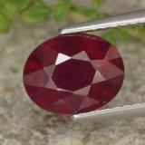 thumb image of 2.5ct Oval Facet Red Ruby (ID: 464800)