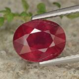 thumb image of 2.7ct Oval Facet Red Ruby (ID: 464880)