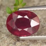 thumb image of 2.7ct Oval Facet Red Ruby (ID: 464907)