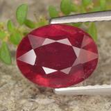thumb image of 2.7ct Oval Facet Red Ruby (ID: 464908)