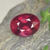 thumb image of 2ct Oval Facet Red Ruby (ID: 465440)