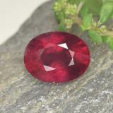 thumb image of 2ct Oval Facet Red Ruby (ID: 465442)