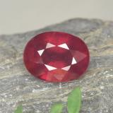 thumb image of 2ct Oval Facet Red Ruby (ID: 465470)