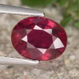 thumb image of 1.8ct Oval Facet Red Ruby (ID: 465480)