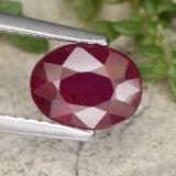 thumb image of 1.7ct Oval Facet Red Ruby (ID: 465484)