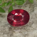 thumb image of 2ct Oval Facet Red Ruby (ID: 465562)