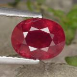 thumb image of 2.1ct Oval Facet Red Ruby (ID: 465632)