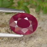 thumb image of 1.9ct Oval Facet Red Ruby (ID: 465726)