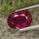thumb image of 1.3ct Oval Facet Red Ruby (ID: 466371)