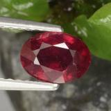 thumb image of 1.2ct Oval Facet Red Ruby (ID: 466434)