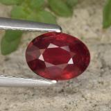 thumb image of 1.2ct Oval Facet Red Ruby (ID: 466450)