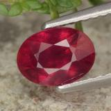 thumb image of 1.4ct Oval Facet Red Ruby (ID: 466518)