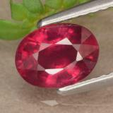thumb image of 1.1ct Oval Facet Red Ruby (ID: 466561)