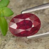 thumb image of 1.3ct Oval Facet Red Ruby (ID: 466604)