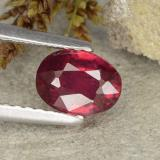 thumb image of 0.9ct Oval Facet Pink Red Ruby (ID: 483232)