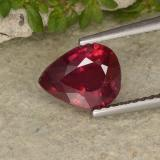 thumb image of 2ct Pear Facet Pinkish Red Ruby (ID: 495194)