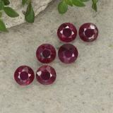 0.26 ct Round Facet Pinkish Red Ruby Gem 3.58 mm  (Photo B)