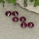 0.26 ct Round Facet Pinkish Red Ruby Gem 3.58 mm  (Photo C)