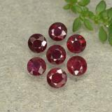 thumb image of 0.2ct Round Facet Pinkish Red Ruby (ID: 496000)
