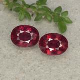 thumb image of 2ct Oval Facet Pinkish Red Ruby (ID: 496049)