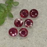 thumb image of 0.2ct Round Facet Pinkish Red Ruby (ID: 496171)