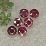thumb image of 0.3ct Round Facet Pinkish Red Ruby (ID: 496176)