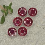 thumb image of 0.3ct Round Facet Pinkish Red Ruby (ID: 496178)