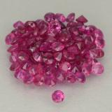 0.01 ct Corte Diamante Deep Magenta Rubí Gema 1.38 mm  (Foto B)